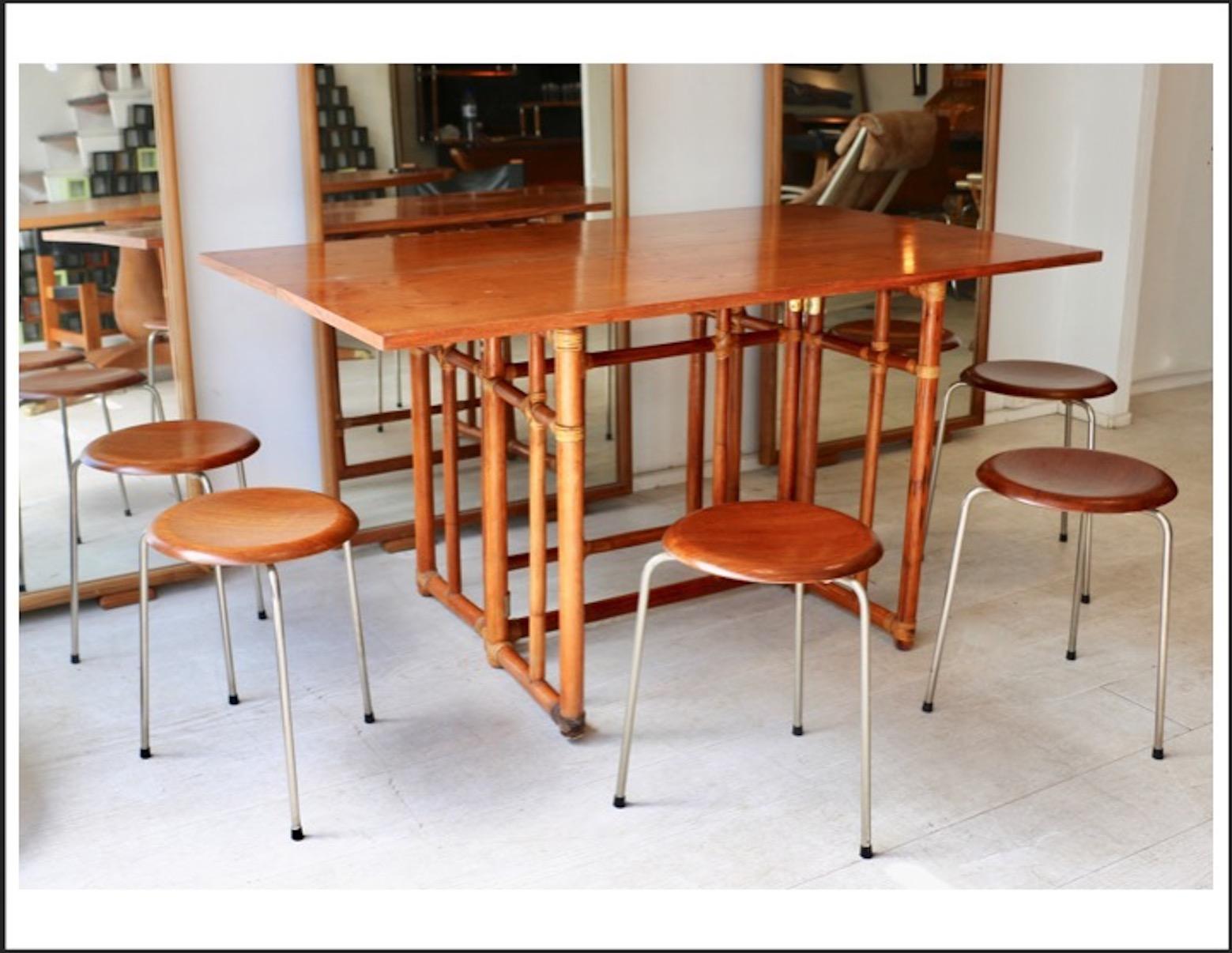 console transformable en table bambou et. Black Bedroom Furniture Sets. Home Design Ideas